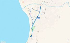 Route and Driving Directions to Hospital CMQ Premiere in Puerto Vallarta from Downtown Puerto Vallarta and The Malecon