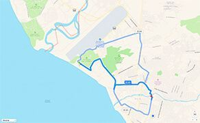 Route and Driving Directions to Hospital CMQ Premiere in Puerto Vallarta from The Marina Vallarta