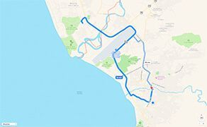 Route and Driving Directions to Hospital CMQ Premiere in Puerto Vallarta from The Nuevo Vallarta