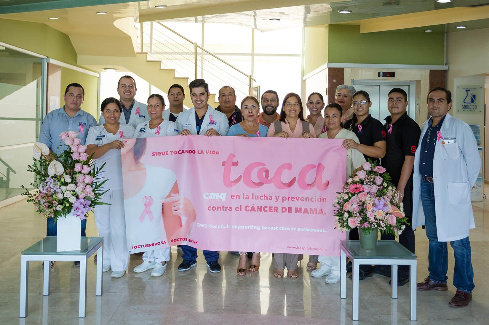 breast cancer awareness with our team from Hospital CMQ City Center