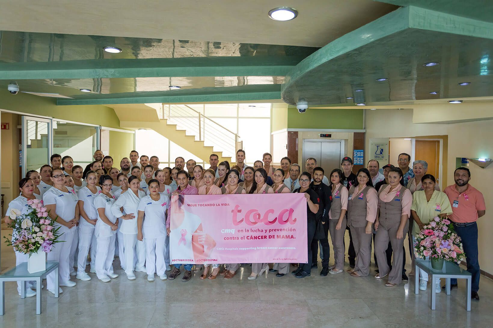 Our medical team at Hospital CMQ in Puerto Vallarta, supporting breast cancer awareness
