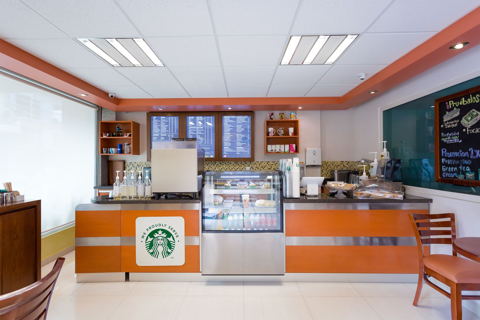 The first CMQ Cafeteria with Starbucks license at Hospital CMQ City Center in Downtown Puerto Vallarta