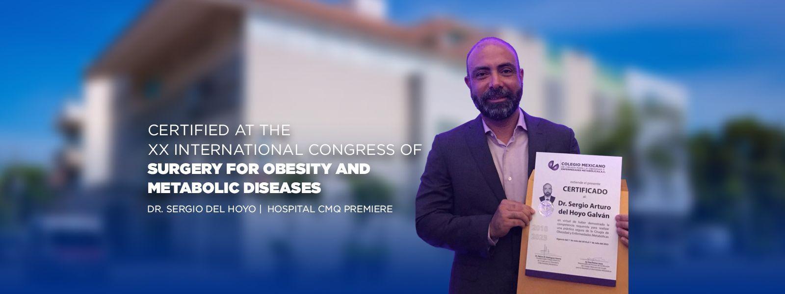 Certificación en el XX Congreso Internacional de Cirugía para la Obesidad y Enfermedades Metabólicas