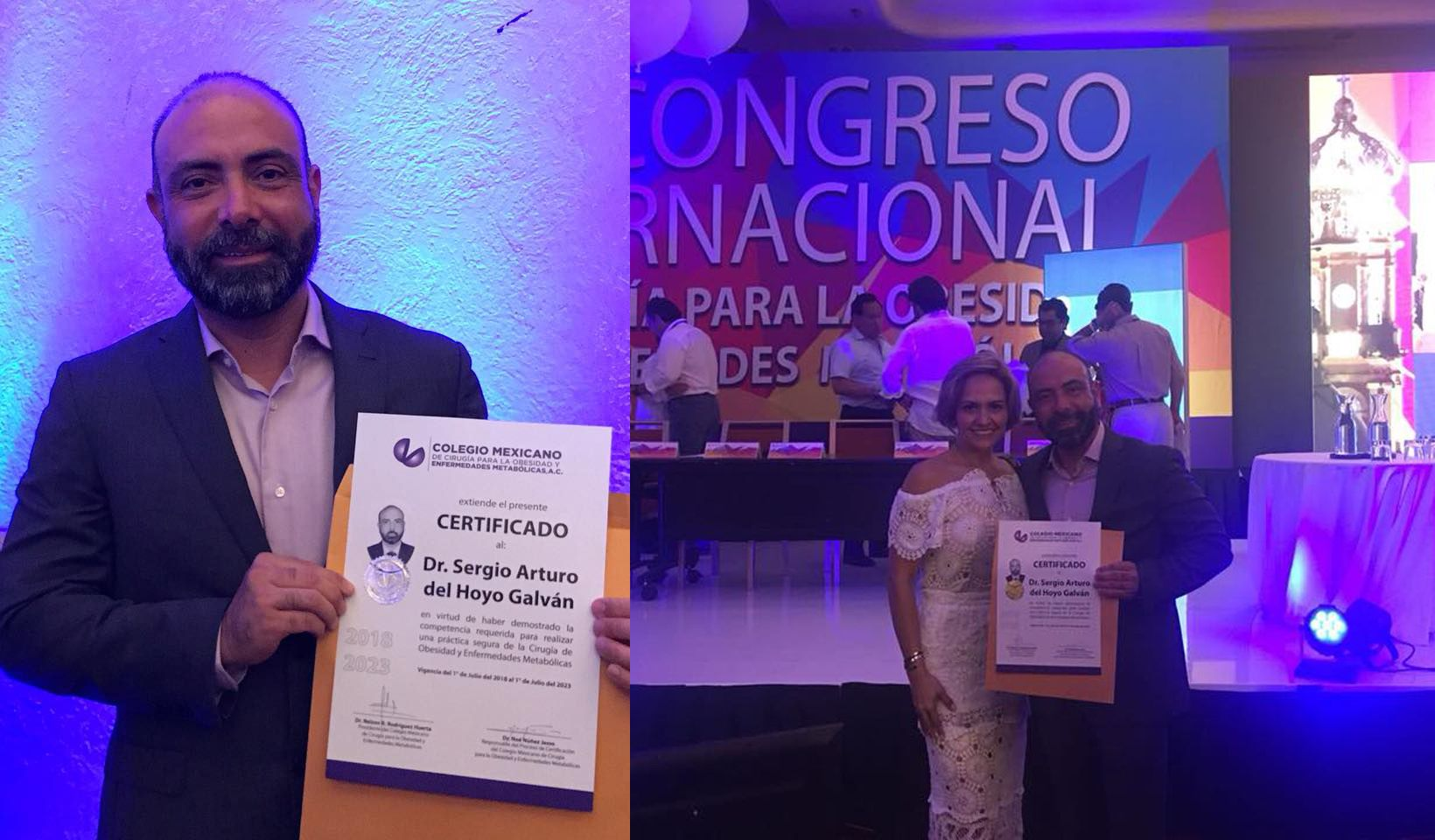 Dr. Sergio del Hoyo and Dr. Jessy Mendez at the XX International Congress of Surgery for Obesity and Metabolic Diseases