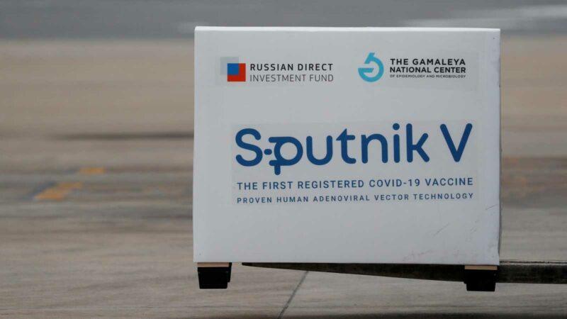 Cargamento de la vacuna rusa Sputnik V
